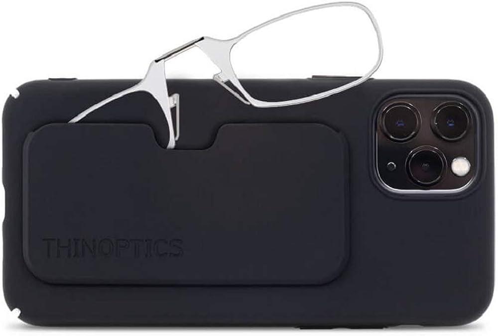 ThinOptics Slimline iPhone Case + Rectangular Reading Glasses, iPhone 11