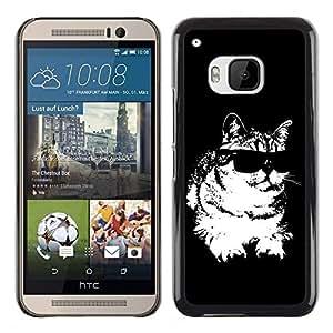 - WHITE FELINE CAT BLACK COOL SUNGLASSES - - Monedero pared Design Premium cuero del tir???¡¯???€????€?????n magn???¡¯&