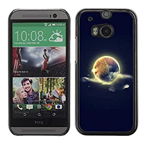 Be Good Phone Accessory // Dura Cáscara cubierta Protectora Caso Carcasa Funda de Protección para HTC One M8 // World Earth Sky Space Nature