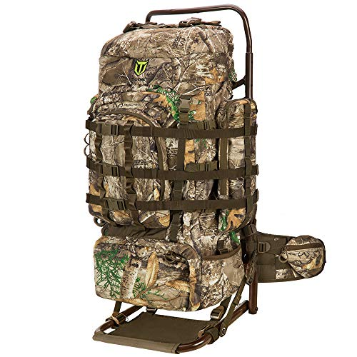 TIDEWE Hunting Backpack 5500cu with Frame and Rain Cover for Bow/Rifle/Pistol