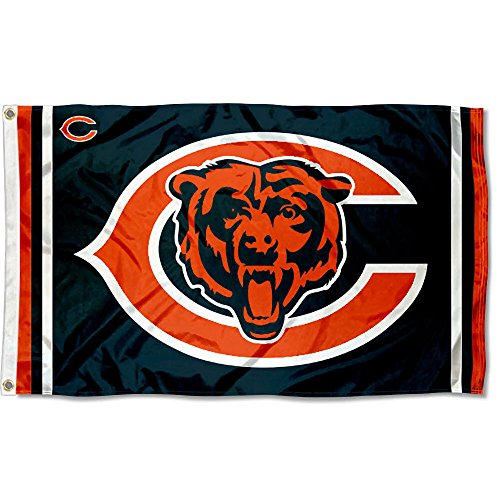Chicago Bears Logos Flag and - Chicago Sports Flag