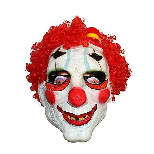[XIAO MO GU Latex Halloween Party Cosplay Face Mask Scary Devil Clown Costumes Mask] (Twisty The Clown Costume Mask)