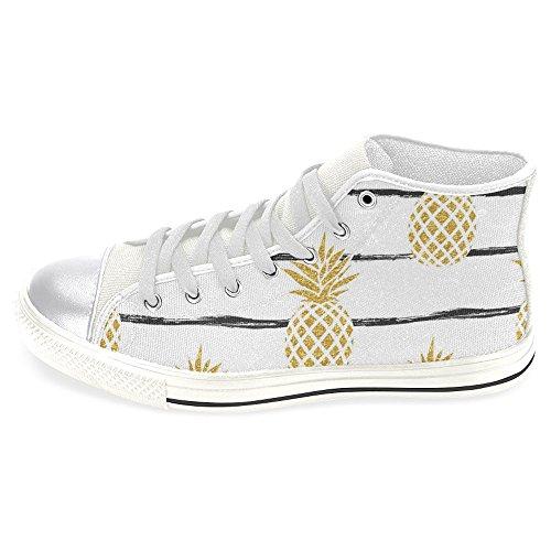 Interestprint Femmes Haut Haut Classique Toile Casual Chaussures De Mode Formateurs Baskets Ananas