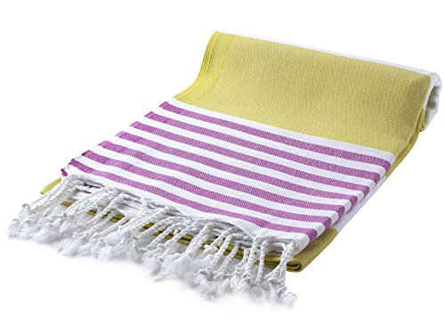 Cacala Marina Series Peshtemal Turkish Hammam Bath Towels, Traditional Peshtemal Design for Bathrooms, Beach, Sauna, Ultra-Soft, Fast-Drying 37x70 100% Natural Cotton Olive