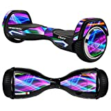 MightySkins Protective Vinyl Skin Decal for Razor Hovertrax 2.0 Hover Board Self-Balancing Smart Scooter wrap cover sticker skins Light Waves