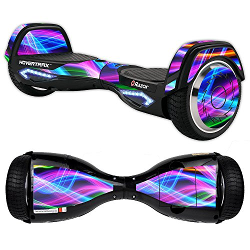 MightySkins Protective Vinyl Skin Decal for Razor Hovertrax 2.0 Hover Board Self-Balancing Smart Scooter wrap cover sticker skins Light Waves from MightySkins