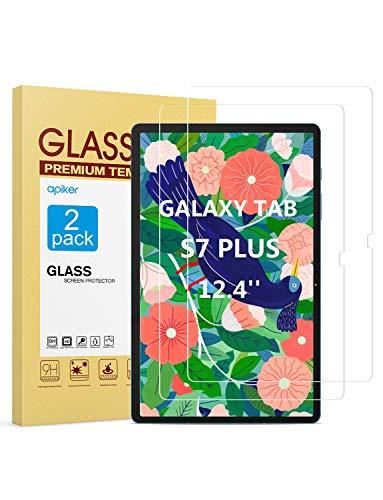 2 Vidrios Templados 9h Para Samsung Tab S7 Plus Apiker