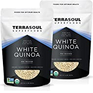 Terrasoul Superfoods Organic White Quinoa, 4 Lbs - Pre-washed | Gluten-free | Plant Protein…