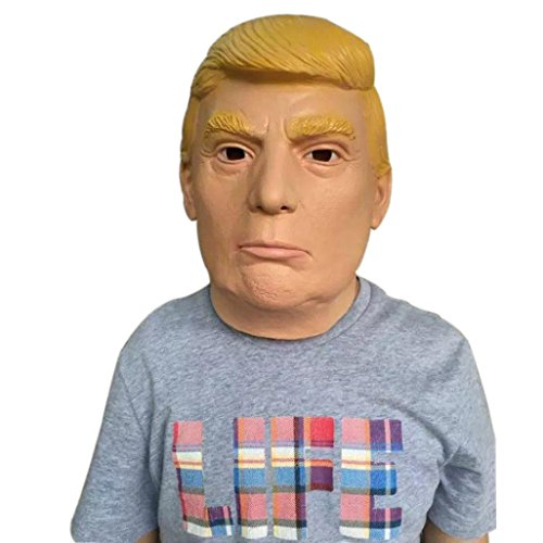 YIWULA Halloween Party Mask Cosplay Disgusting Face Mask Terror Mask Donald Trump Head Mask - Anti Plague Costume