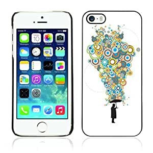 Designer Depo Hard Protection Case for Apple iPhone 5 5S / Cool Bubble Thoughts