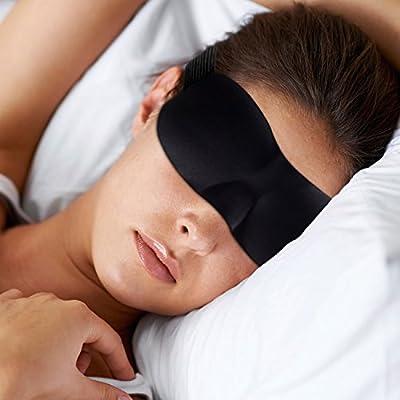 Lightweight Soft Sleep Masks - EyeMasks with Premium Light Blocking Design - UNISEX - Includes Earplug & Travel Pouche - Blackout, Sleeping Meditation - Relax More, Be Restful
