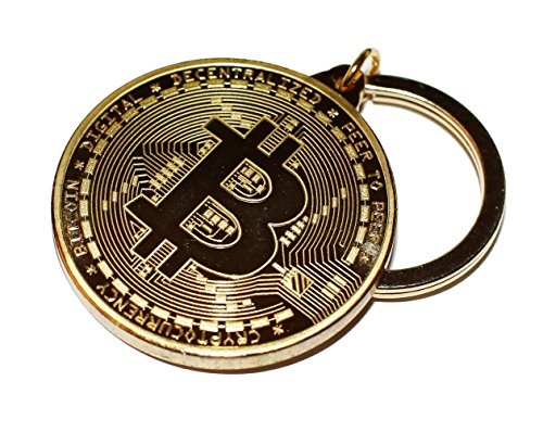 Bitcoin Key Chain Gold Plated Cryptocurrency Gift by BitcoinBling
