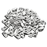 100pcs M4-20 Carbon Steel T-Nut T Fastener Sliding Nut Screw - Machinery Parts Other Accessories -100 x M4-20 T-nuts