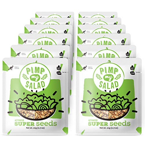 PIMP MY SALAD, Vegan Salad Toppers, and Flavor Boosters   Dairy-Free, Paleo, Gluten-Free Healthy Snacks & Toppings   Super Seeds   Single Serve Packets   12 Pack