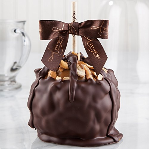 Cashew Turtle Caramel Apple w/ Dark Belgian Chocolate