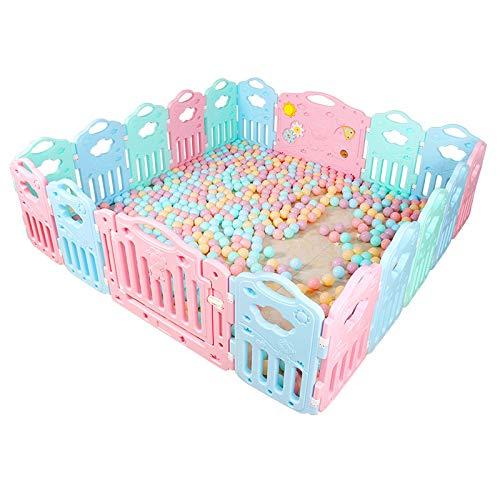 赤ちゃんの囲い 折りたたみ可能な赤ん坊の安全性幼児のフェンス環境保護PEの材料子供の幼児のフェンス屋内、高さ60cm、厚さ35cm   B07JN4BXCQ