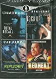 Four Film Multi Feature: Total Recall + Lock Up + Replicant + Redheat
