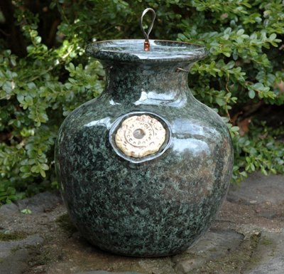 - Large Down Under Pot GREEN MARBLE DOWN UNDER POT