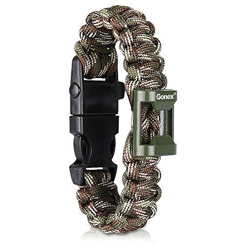 Gonex 550 Armband Paracord Survival Bracelet Outdoor Trekking Jagd Survival Band