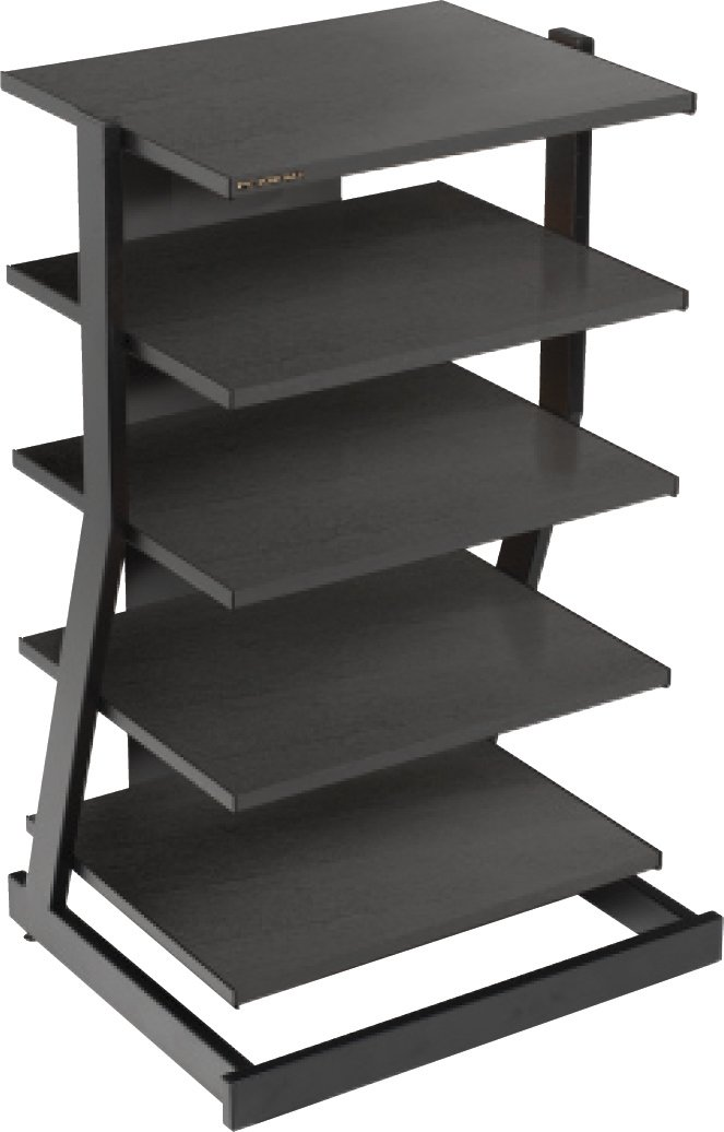 glass rack dcg everest stereo black multilevel wal stores
