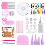 GLOGLOW 1 Set DIY Quilling Paper Craft Rolling Kit, Home Office Decoration Paper Crafts DIY Slotted Tools Strips Tweezer Paper Craft Quilling Kit