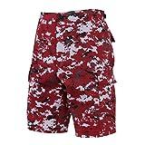 Rothco BDU Shorts, Red Digital Camo, Large