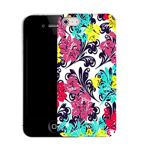 Mobile Case Mate IPhone 5 clip on Silicone Coque couverture case cover Pare-chocs + STYLET - bonny floral pattern (SILICON)