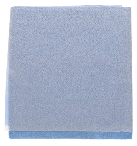 Medline NON24333 Disposable Tissue/Poly Flat Stretcher Sheets, 40'' x 72'', Blue (Pack of 50) by Medline