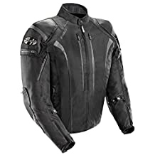 Joe Rocket Atomic Men's 5.0 Textile Motorcycle Jacket (Black, Medium)