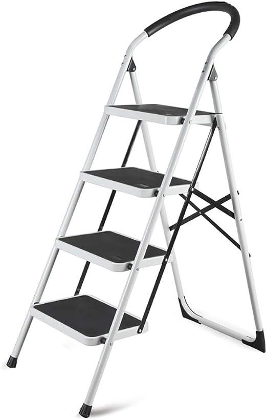 LFY Escalera Escalera Plegable de 4 peldaños con pasamanos ...