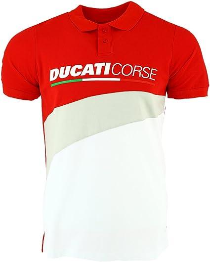 pritelli Polo Hombre Ducati Corse, Rojo, Talla L: Amazon.es: Coche ...