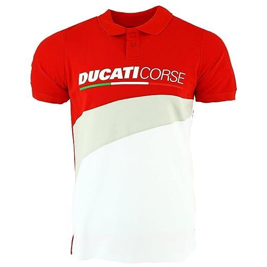 pritelli Polo Hombre Ducati Corse, Rojo, Talla S: Amazon.es: Coche ...