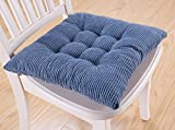 Kitchen Stools Chairs 8 Color Winter Soft Thicken Plush Cushions Kitchen Stool Chair Pad with Ties (Small, Blue)