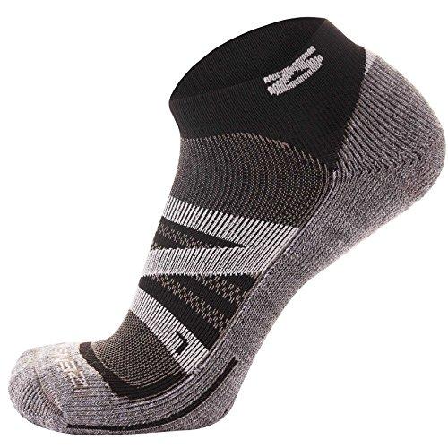 Zensah Wool Running Socks – Soft Cushioned Merino Wool, Moisture Wicking, Anti-Blister – Athletic Socks, Trail Socks,Medium, - Ultralight Socks Trail