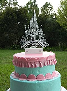 Amazoncom Frozen Castle Inspired Cake Topper Personalized in