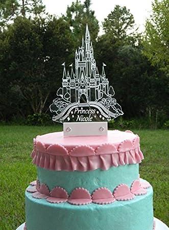 Amazoncom Cinderella Castle Cake Topper inspired with LED light