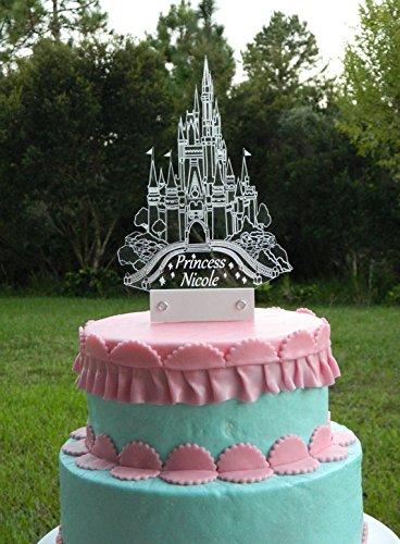 Cinderella Castle Cake Topper inspired with LED (Blue Cinderella Castle)