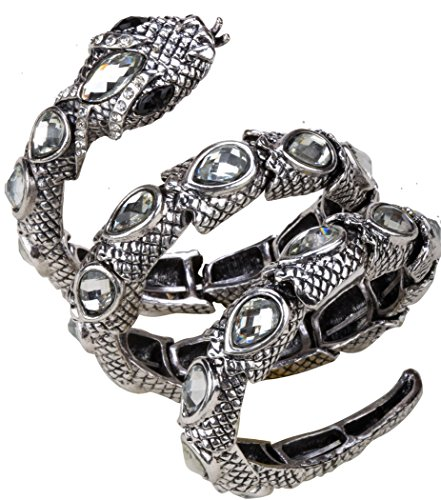 Angel Jewelry Women's Crystal Stretch Snake Bracelet
