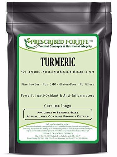51hTWu4KZ7L - Turmeric - 95% Curcumin - Natural Rhizome Extract Powder (Curcuma longa)