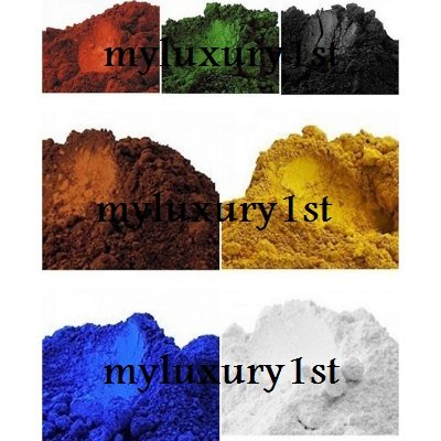 2g Pigment Powder Pack of 7 Sample Cold Process Melt and Pour Natural Soap Colorants Blue Green Yellow White Red Brown Black 2 gram for MP Test Batches -