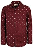 p.s. from aeropostale Boys Long Sleeve Button Down Shirt, Maroon Dots, Size 5'
