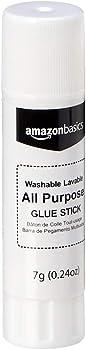 30-Pack AmazonBasics All Purpose Glue Sticks, Washable, 0.24-oz