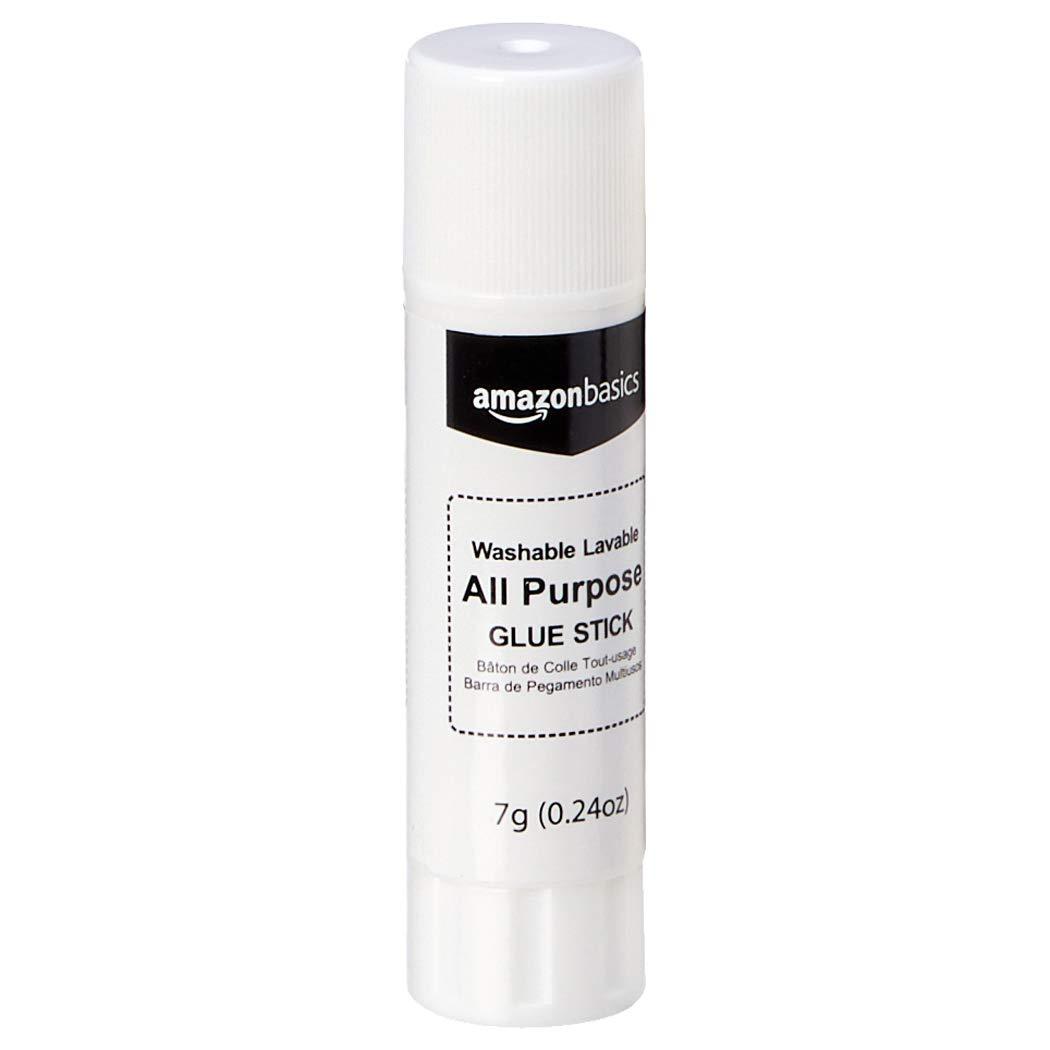 AmazonBasics All Purpose Bulk School Glue Sticks, Washable, 0.24-oz Stick, 30-Pack