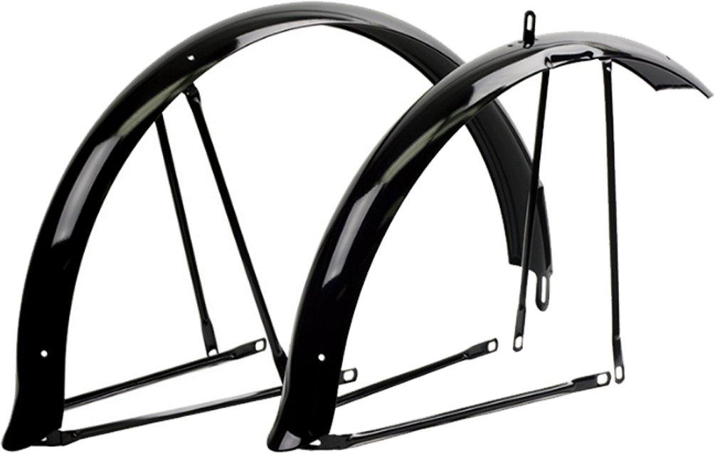"NEW Bicycle Fender 26/"" Flared Standard Balloon Fender Set Chrome Bike Part"