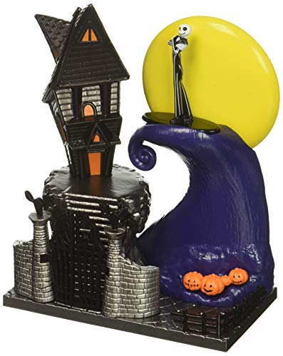Nano Metalfigs 99822 Jada Toys Disney's Nightmare Before Christmas Nano Scene with Jack diecast Figure., Multicolor