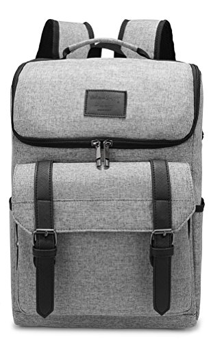 Weekend Shopper 15.6'' Laptop Backpack College School Bookbag Lightweight Travel Backpack for Men and Women Grey
