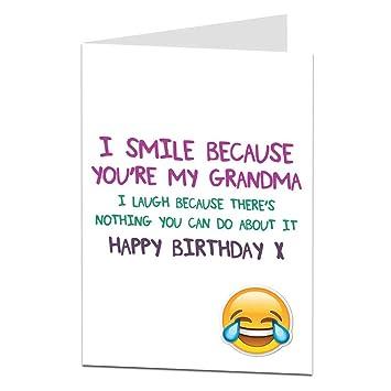 Funny Happy Birthday Card For Grandma Granny Gran