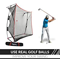 Rukket 9x7x3ft Haack Golf Net Pro | Practice Driving Indoor and Outdoor | Professional Golfing at Home Swing Training Aids | By SEC Coach Chris Haack