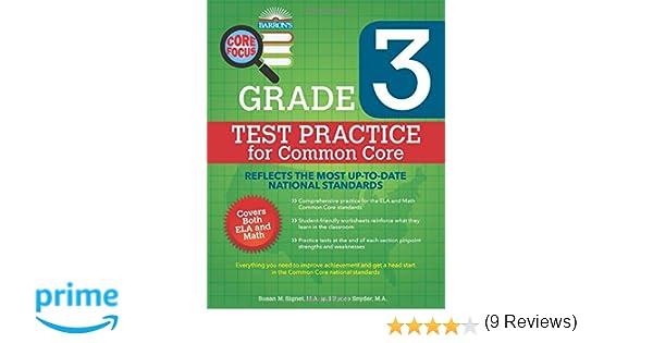 Barron's Core Focus: Grade 3 Test Practice for Common Core: Susan ...