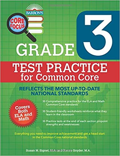 Barron's Core Focus: Grade 3 Test Practice for Common Core: Susan ...